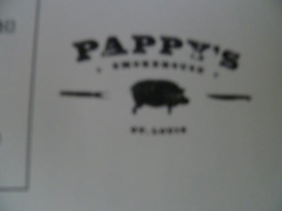 Pappy's Smokehouse: Pappy's Menu