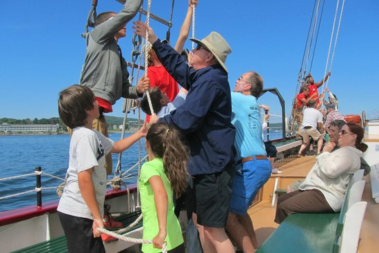 Downeast Windjammer Cruise Lines: You are invited, but not obligated, to help raise the sails