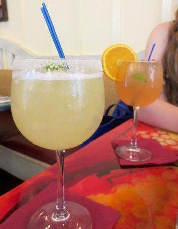 Judie's : Coconut margarita and wine specials
