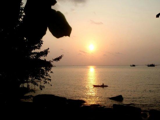 A-Na-Lay Resort Koh Kood: sundown from restaurant