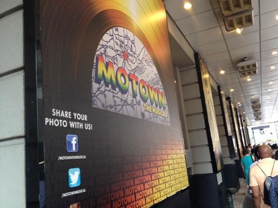 Motown The Musical on Broadway: Outside of the theather