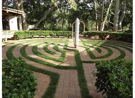 Los Abrigados Resort and Spa: Peace inducing labyrinth on the Los Abrigados grounds by the creek