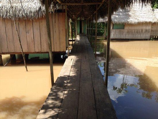 Llaquipallay Lodge and Expeditions: Walkway between rooms