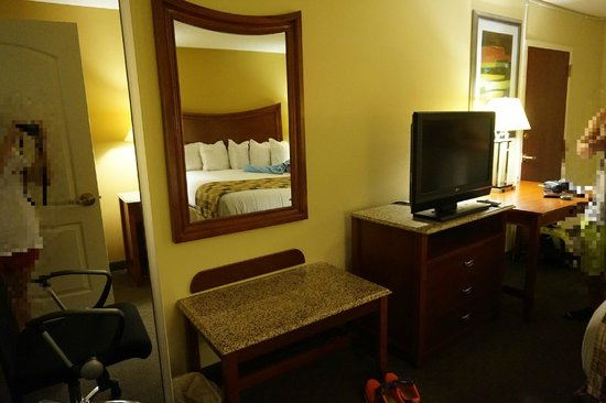 Atkinson Inn & Suites: Big mirror and sitting space