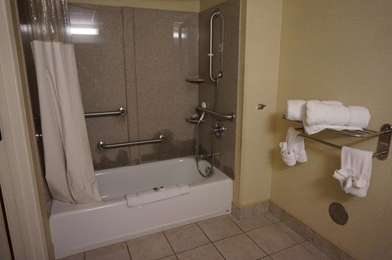 Atkinson Inn & Suites: Plenty of bathroom space