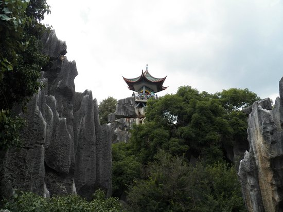 Yunnan Stone Forest Geological Park: stone forest vantage point