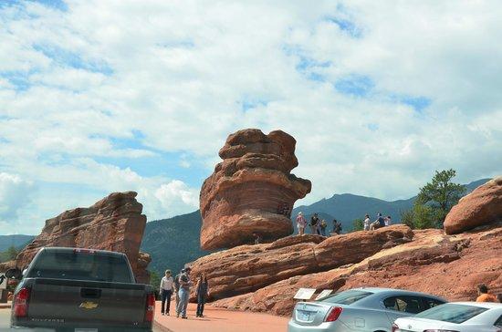 Garden of the Gods: A balancing rock