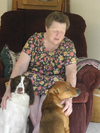 Stone Ridge Inn: Miss Bess with her well behaved dogs.