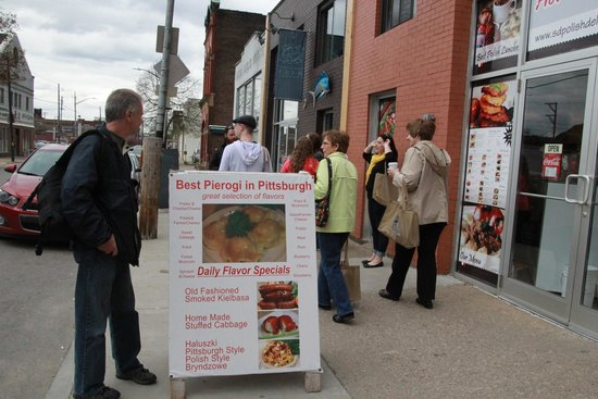 Burgh Bits and Bites Food Tours: Pierogi stop.