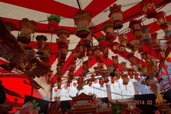 Shinchi Chinatown : ランタン祭り会場テント内