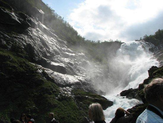 The Flam Railway : Kjos Fossen Waterfall