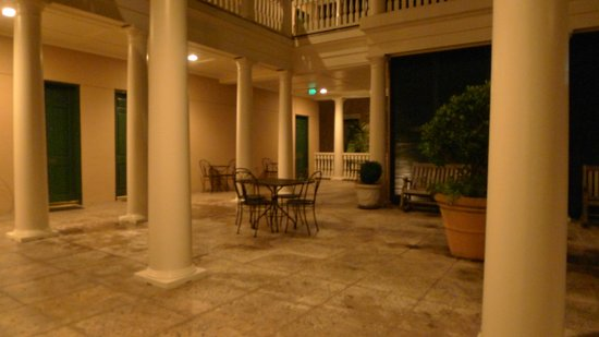 Planters Inn : Second Floor Piazza at night.