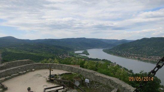 Visegrad Citadel: View of Danube bend