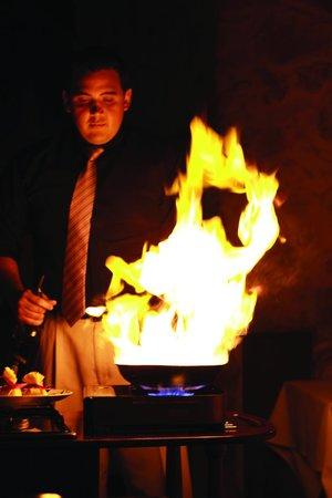 Ferraris Italian Villa: Classic Flambe Dessert