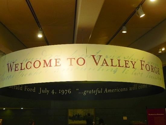 Valley Forge National Historical Park : welcome sign in the visitors center of Valley Forge!