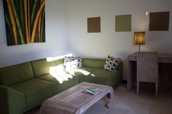 The Studio Bali: the living area upon entering the room