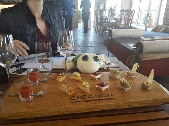 Creation Wines: Food and wine pairing platter
