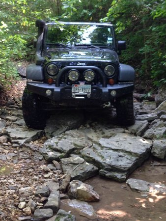 Southern Missouri Off Road Ranch SMORR: One of the easier rocky spots.