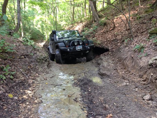 "Seymour, MO: Getting into some mud.  I think this is on trail ""Renegade""."