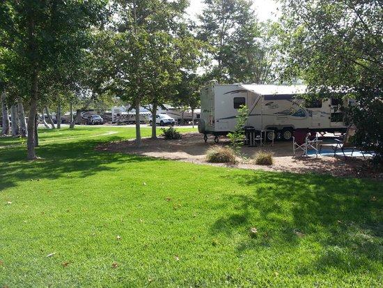 Santee Lakes Recreation Preserve: Looking toward Road C.