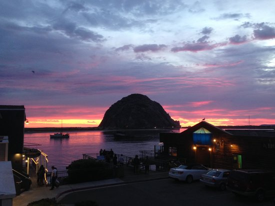 Anderson Inn: View from our room overlooking Morro Bay