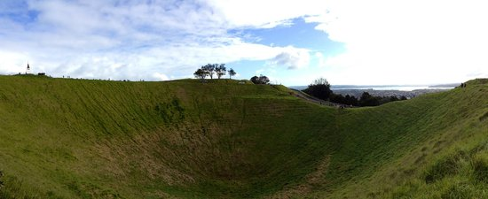 Mount Eden: The Crater In Panoramic