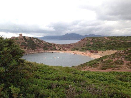 Spiaggia Torre del Porticciolo: Vista da sud