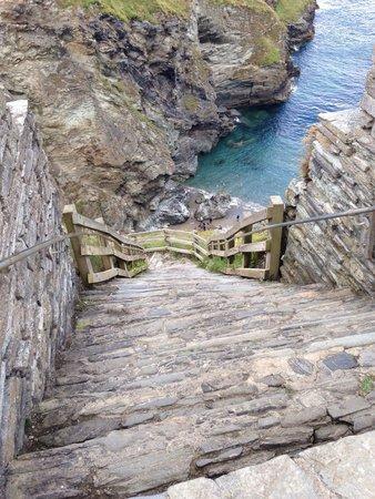 Tintagel Castle: Lots of steps