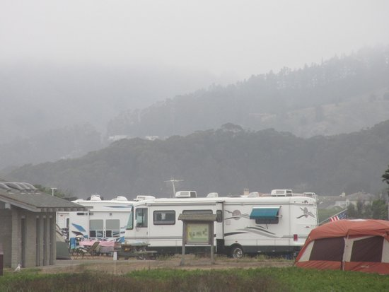 Camping Area - Half Moon Bay State Beach - Nice Place to Camp - 30 mile south of San Francisco