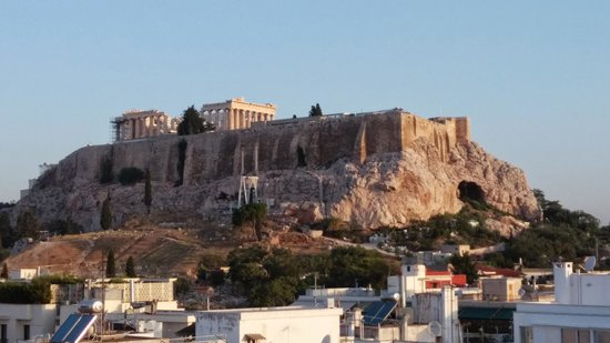 The Athens Gate Hotel: View from the rooftop restaurant