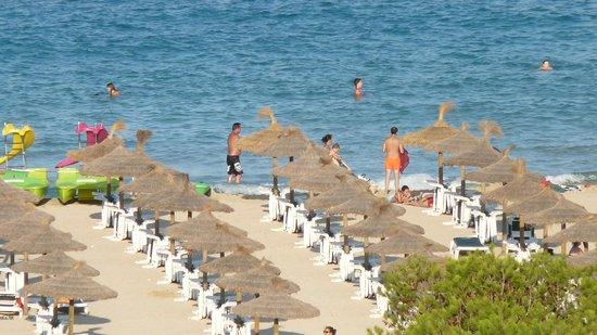 Cala Marsal: la plage vue depuis le 7° étage