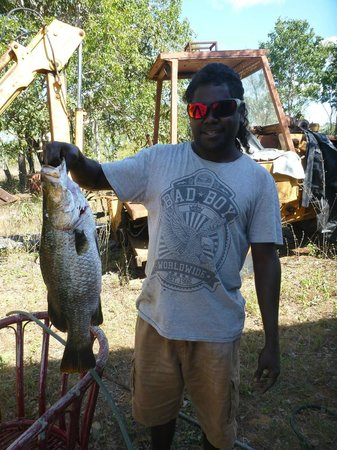 Groote Eylandt Lodge : Fresh barramundi from the Walker River