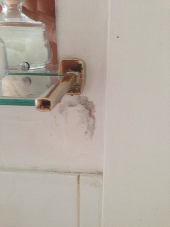 Angel Hotel: Damp problems with peeling paint