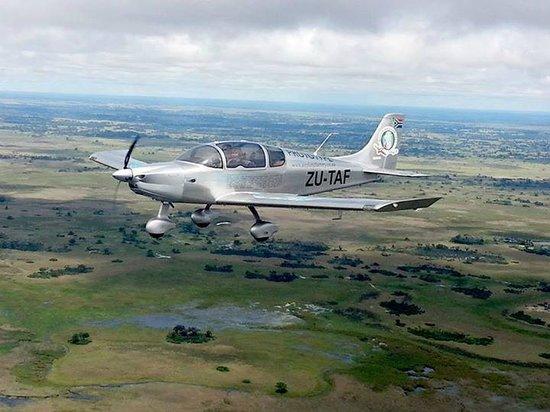 Okavango Delta: Flight over the Delta