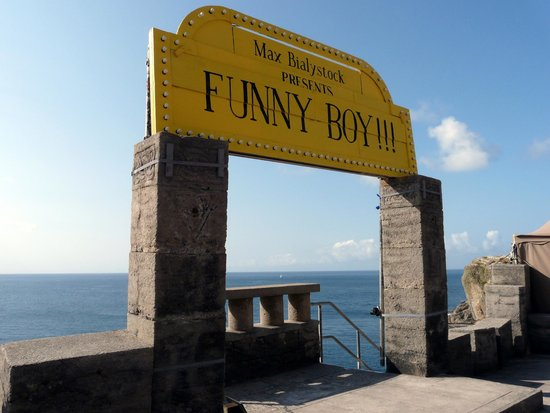 What a delightful view from our seats at the Minack Theatre