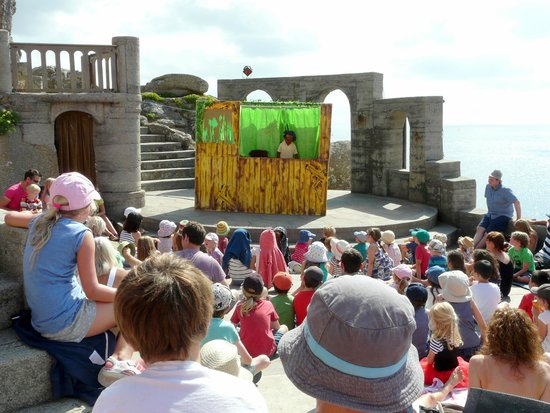 Minack theatre on a warm sunny day (make sure you take lots of water)