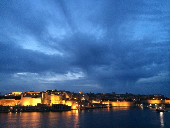 From the roof top of Sally Port Senglea in the evening