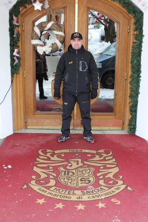 Albergo Savoia: Я на входе в отель