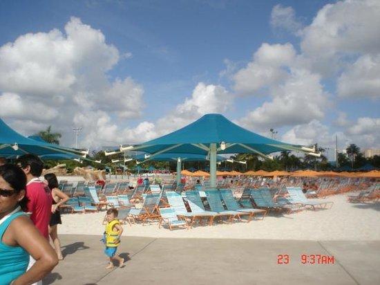 Aquatica Orlando: zona de playa artificial