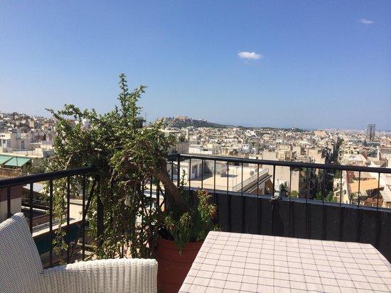 Dryades Hotel : Vue terrasse déjeuner