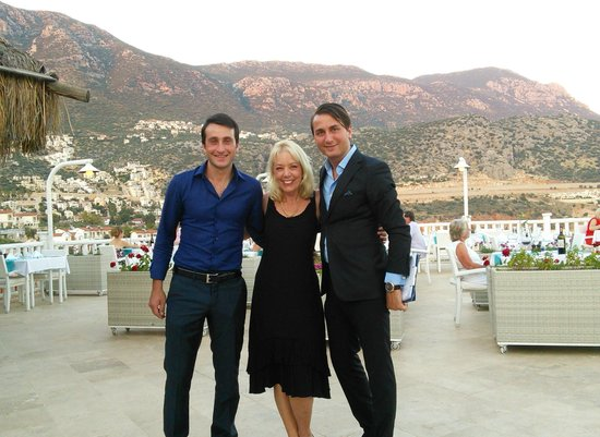 Likya Residence and Spa: Terrie, with Ersin & Mohammad.