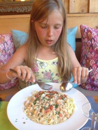 La Cabane: Spaghetti au saumon !