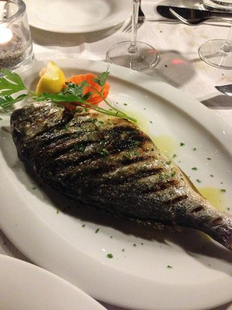 Ristorante al Gondoliere: Grilled sea bream... GOOD !  Fresh
