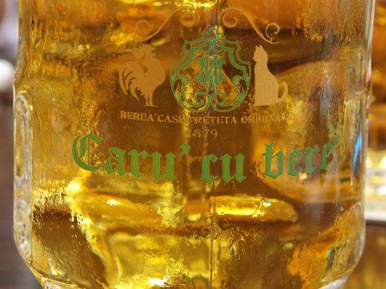 Caru' cu Bere : A glass of beer
