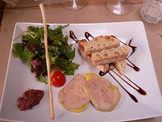 L'Adresse : Entrée : Foie gras conpotée de dattes