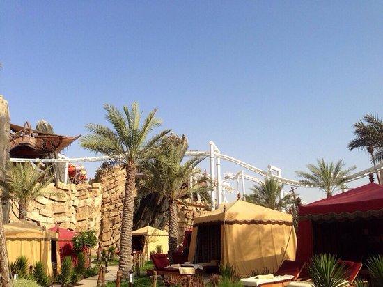 Yas Waterworld Abu Dhabi: Cabanas & bandit bomber roller coaster