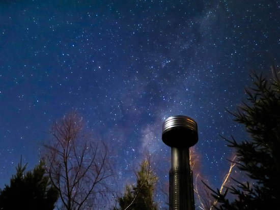 Archway Motels: View from the hot tub under the stars on a clear winter night