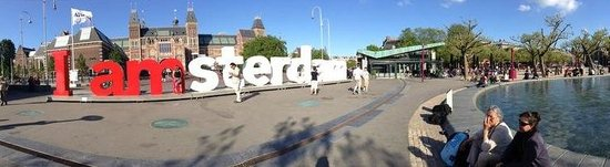 "Museum Quarter: ""I Amsterdam"" attracted lot of tourists to the Museumplein"