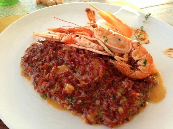 Brace & Risotti di Massare Napoli: Risotto with vodka, melon and scampi