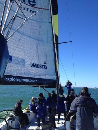 America's Cup Sail Experience: Sailing Auckland under Mainsail and Genaka